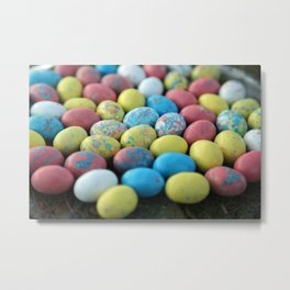 Colorful Candy Eggs Metal Print