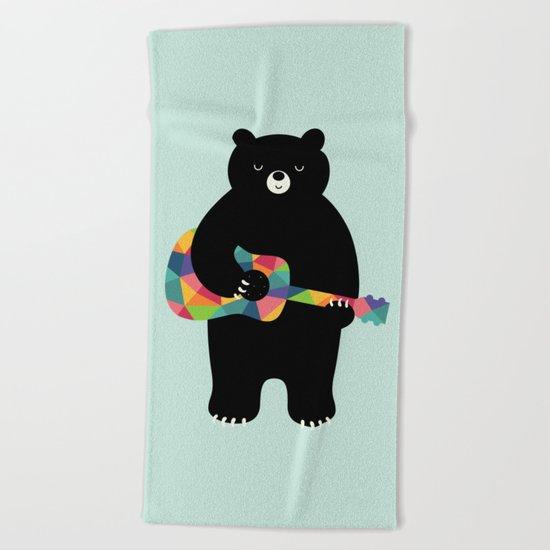 Happy Song Beach Towel