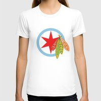 blackhawks T-shirts featuring City of the Four Feathers by fohkat