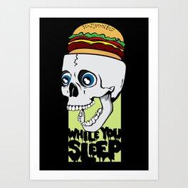 While You Sleep. Art Print