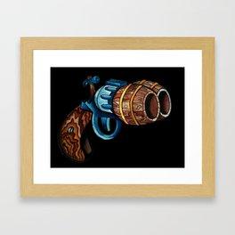 Black Double Barrell Framed Art Print