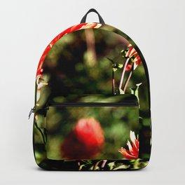 VIVID RED - ORANGE FALL DAHLIA  Backpack