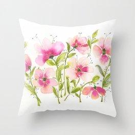 Light Pink Hibiscus Throw Pillow