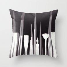 Paintbrush Photogram Throw Pillow