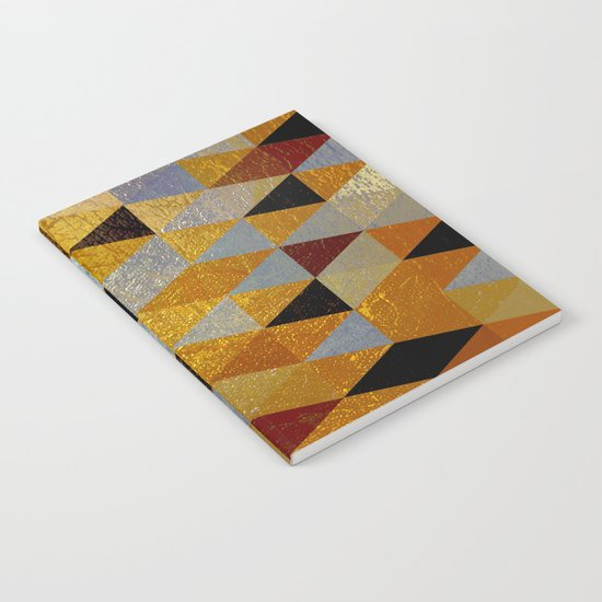 Abstract #382 Copper Foil Notebook