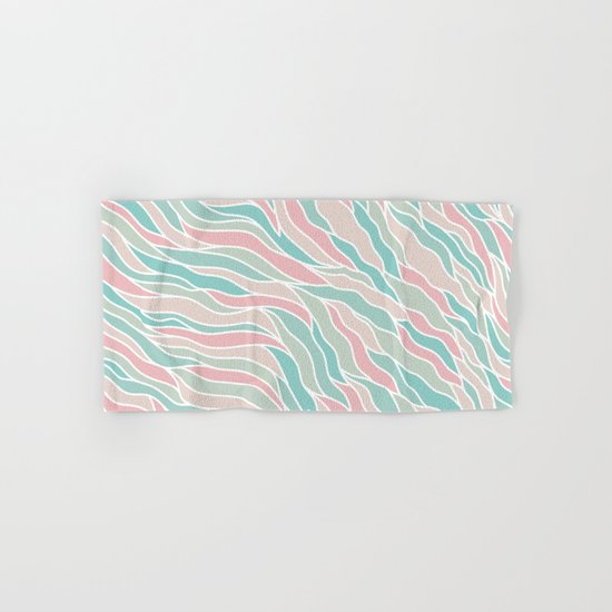 Modern Abstract Stripes Pattern Hand & Bath Towel