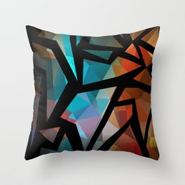 Abstract background of triangles polygon print. Throw Pillow