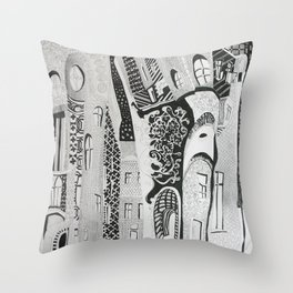 Sleepy kaleidoscope Throw Pillow