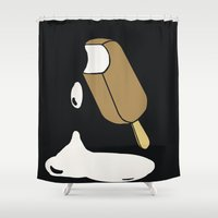 popsicle Shower Curtains featuring Popsicle by lazybones