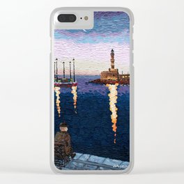 Greece: A Night in Chania, Crete Clear iPhone Case