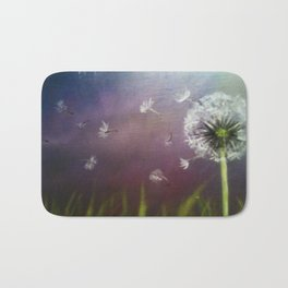 Dandelion 2 (Dandelion in the wind) Bath Mat