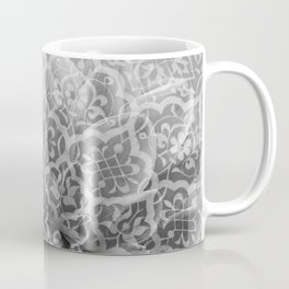 Foral Mosaic Pattern black & white Coffee Mug