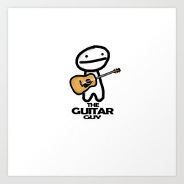 The Guitar Guy Art Print