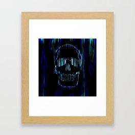 Neon Skull Framed Art Print