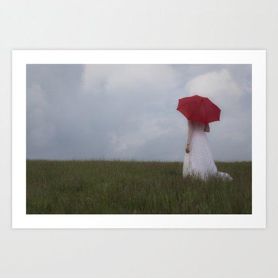 Red and White I Art Print