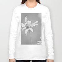 michigan Long Sleeve T-shirts featuring MICHIGAN DAISY  by Alex Kakabaker