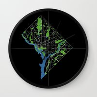 dc Wall Clocks featuring DC by rachitect