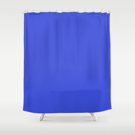 Bright Blue Solid Shower Curtain