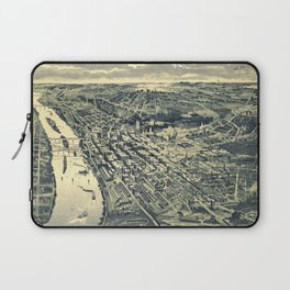 Vintage Map of St. Paul MN (1893) Laptop Sleeve