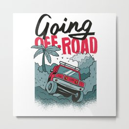 GOING OFF ROAD TRUCK Metal Print
