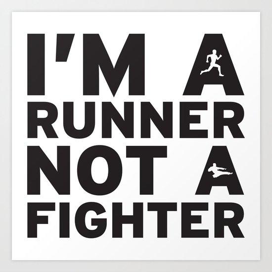 i'm a runner Art Print