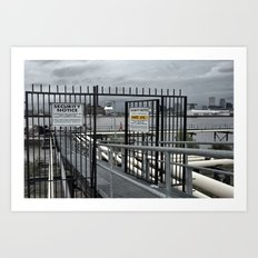 The Open Security Gate Art Print