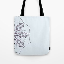 digital drawing flower floral scroll swirl abtract Tote Bag
