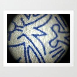 Blue Totem Art Print