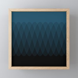 Blue to Black Ombre Signal Framed Mini Art Print