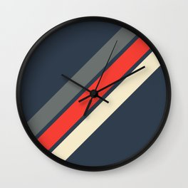 3 Retro Stripes #4 Wall Clock
