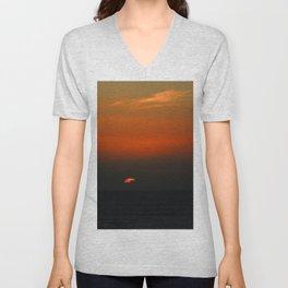 cloudy sunset seascape Unisex V-Neck