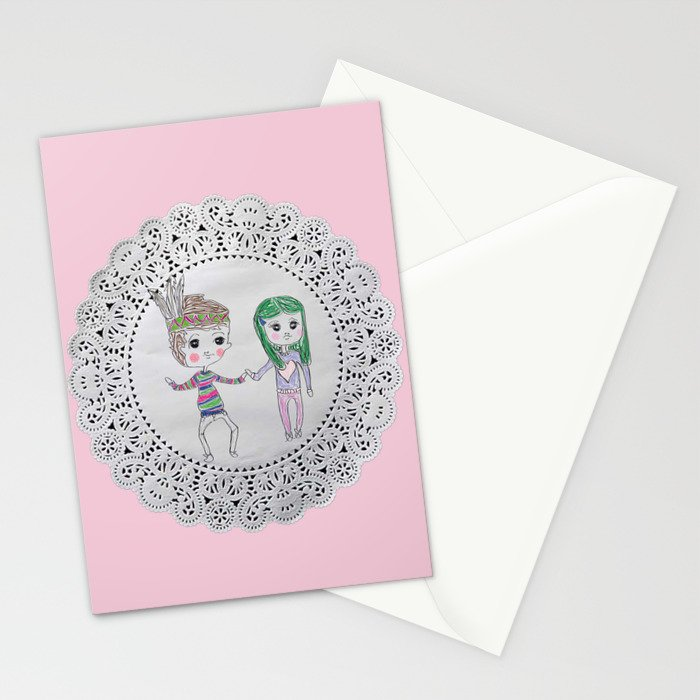 Cute couples Stationery Cards