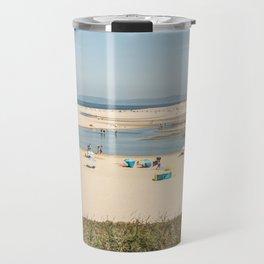 Beach Lagoa de Albufeira Portugal Travel Mug