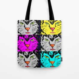 cat faces,visages de chat Tote Bag