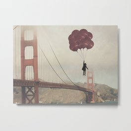 Floating over the Golden Gate Metal Print