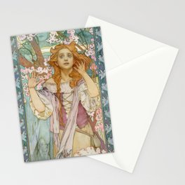 "Alphonse Mucha ""Maude Adams (1872–1953) as Joan of Arc"" Stationery Cards"
