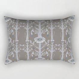 Grey Floral Woods Rectangular Pillow
