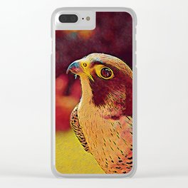 Popular Animals - Falcon Clear iPhone Case