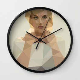Blonde Summer Wall Clock