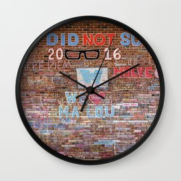 We did not suck   Noriko Aizawa Buckles Wall Clock
