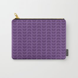 Royal Lilac Leaves Carry-All Pouch