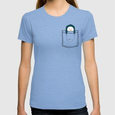 My Pet Tri-Blue Womens Fitted Tee MEDIUM