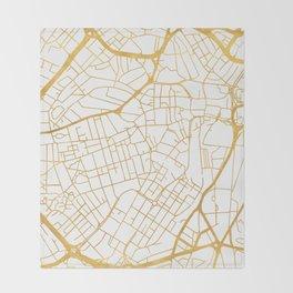 SHEFFIELD ENGLAND CITY STREET MAP ART Throw Blanket