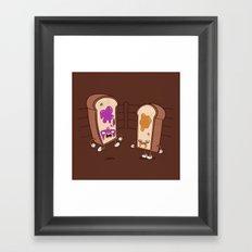 PB vs J Framed Art Print