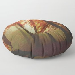 Painted Forest - Moody Autumn Woodlands Floor Pillow