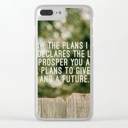 Jeremiah 29 11 Clear iPhone Case