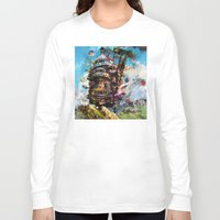 calcifer Long Sleeve T-shirts featuring howl's moving castle by ururuty