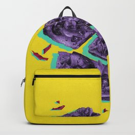 Favourite Food - Yellow by Chrissy Curtin Backpack