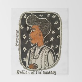 Return of the Rudeboy - Coiffure Throw Blanket