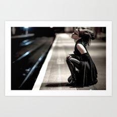 Gothic Ninja Art Print